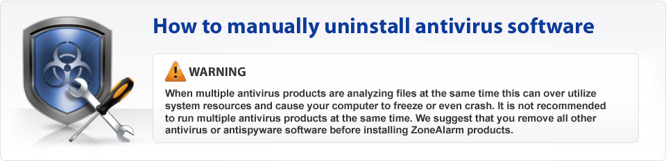 How to manually uninstall antivirus software