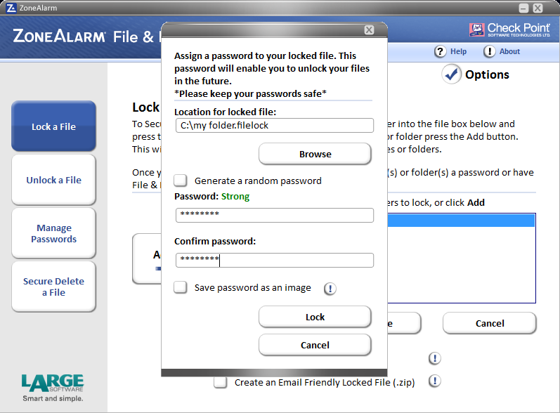 ZoneAlarm File&Folder Lock
