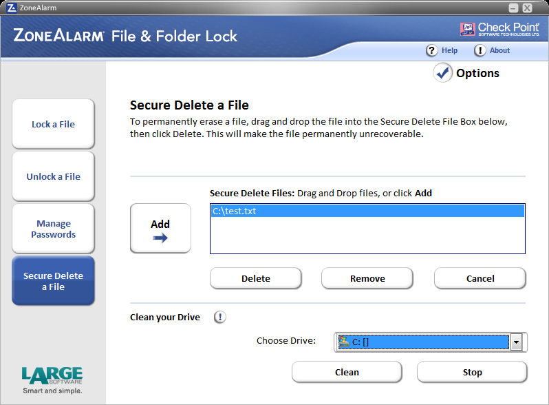 ZoneAlarm File&Folder Lock