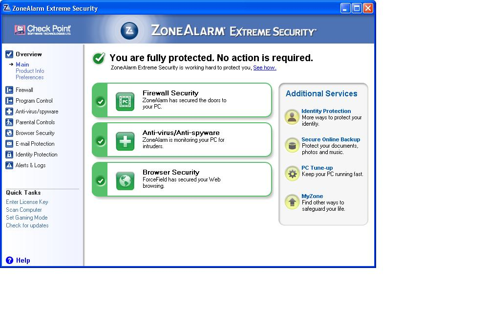 ZoneAlarm Extreme Security 2012 screenshot